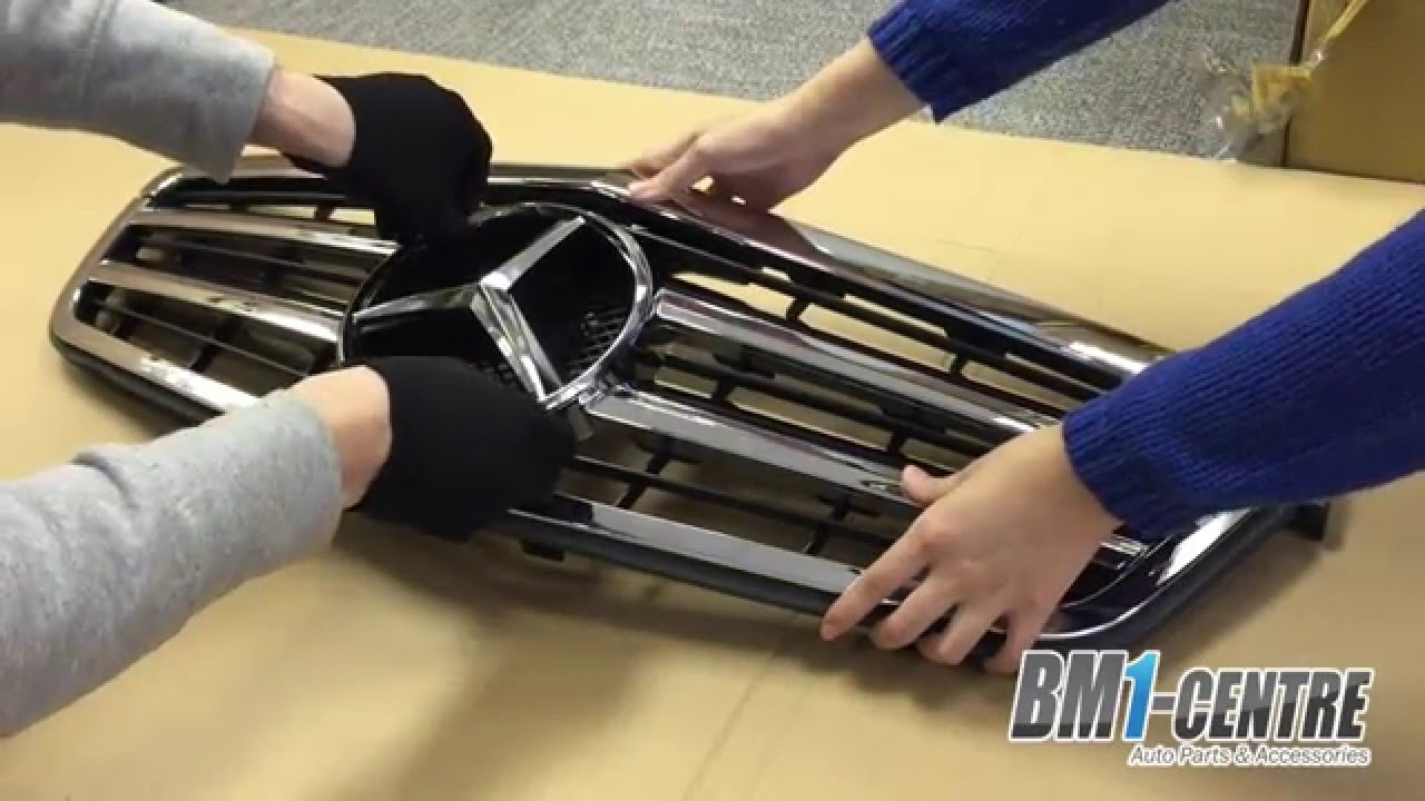 Mercedes Benz Front Grille Star Installation Youtube