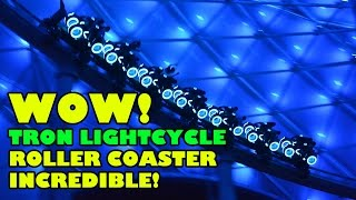 Tron Lightcycle Roller Coaster AMAZING POV Shanghai Disneyland China