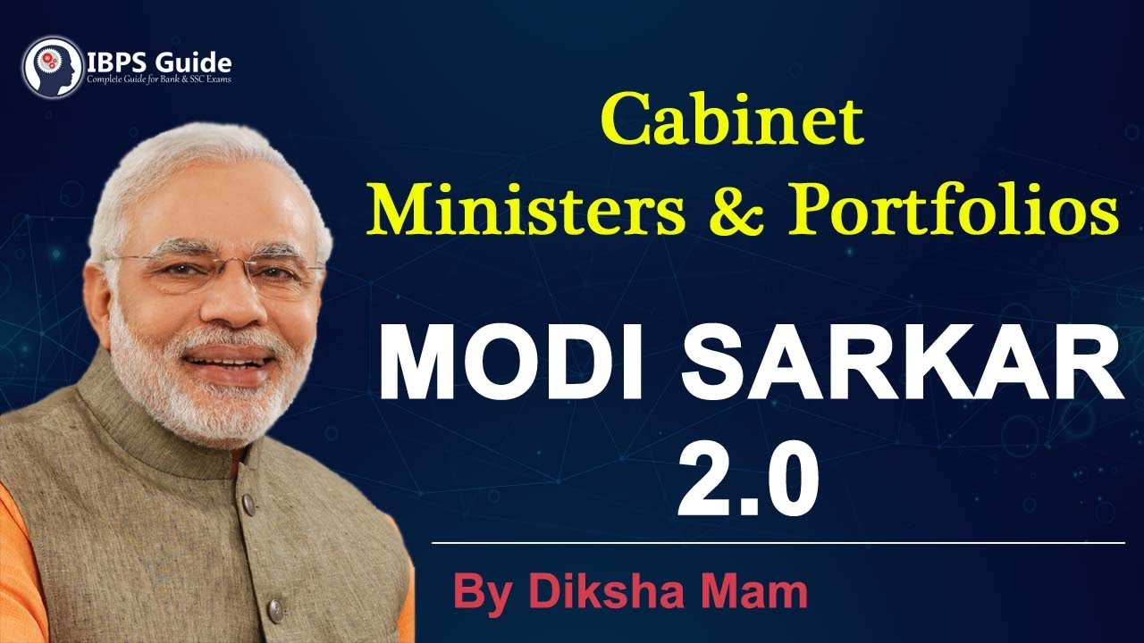 Cabinet Ministers of India 2019 PDF | Cabinet Minister of India List