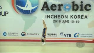 KIM Hanjin (KOR) - 2016 Aerobic Worlds, Incheon (KOR) - Qualifications Individual Men