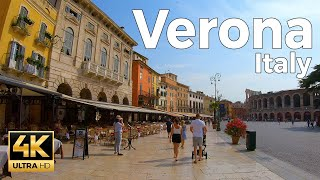 Verona, Italy Walking Tour (4k Ultra HD 60fps)
