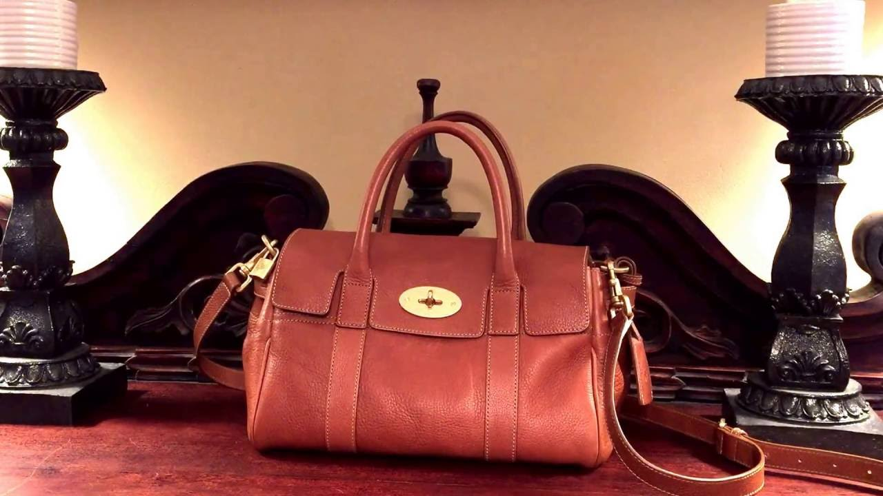 93b6b5d151 Mulberry Small Bayswater Satchel Review - YouTube