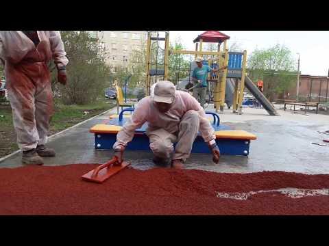 Строительство детских площадок РСУ-4 в г. Реж Свердловской области