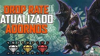 Monster Hunter World - ADORNOS, CHANCES/PORCENTAGEM ATUALIZADAS!