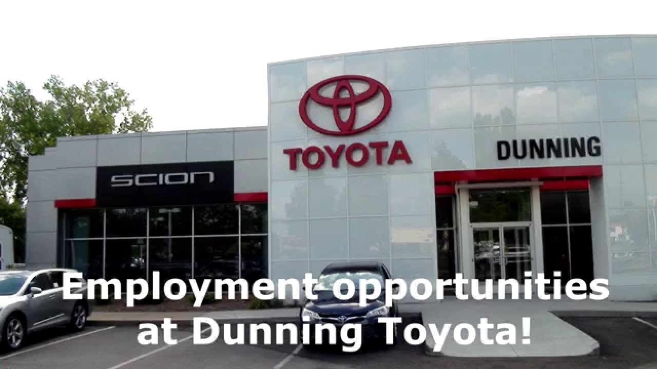 High Quality Dunning Toyota: Employment Opportunities