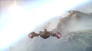 Star Citizen 1.3 PTU - Flying at Murray Cup planet Kampos