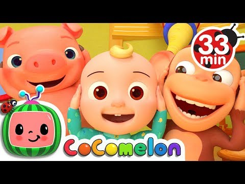 Head Shoulders Knees and Toes + More Nursery Rhymes & Kids Songs - CoComelon