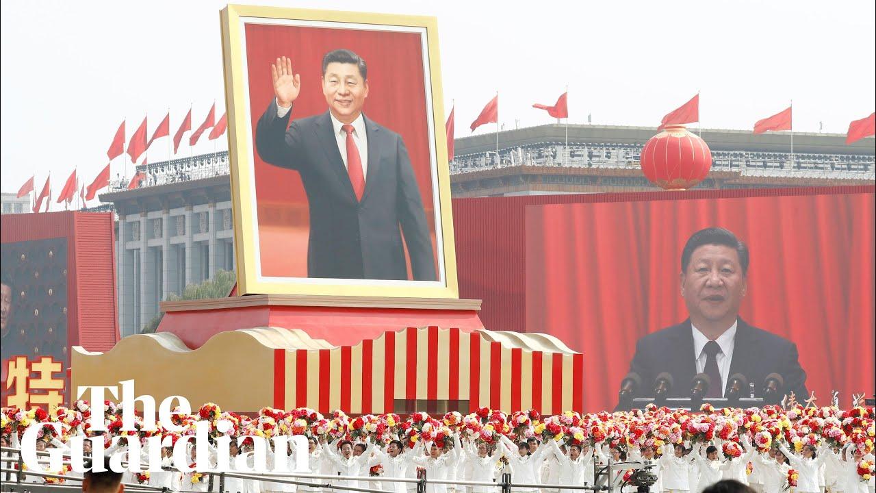 China marks 70th anniversary with military parade - Guardian News thumbnail