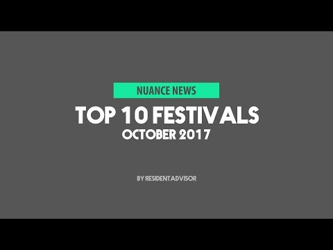 Top 10 Festivals - October 2017