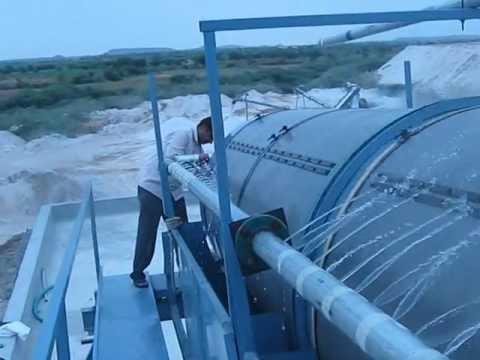 Silica Washing Turnkey Plant with Trommel Screen.AVI