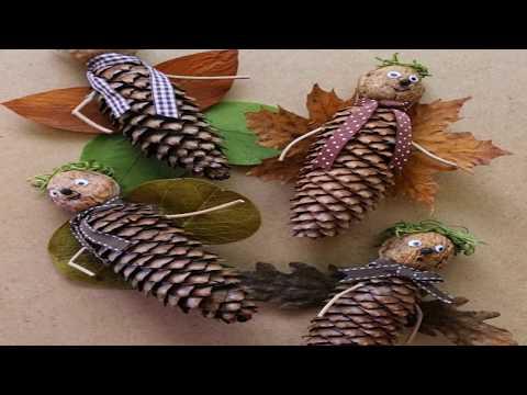 Поделки из листьев и шишек своими руками