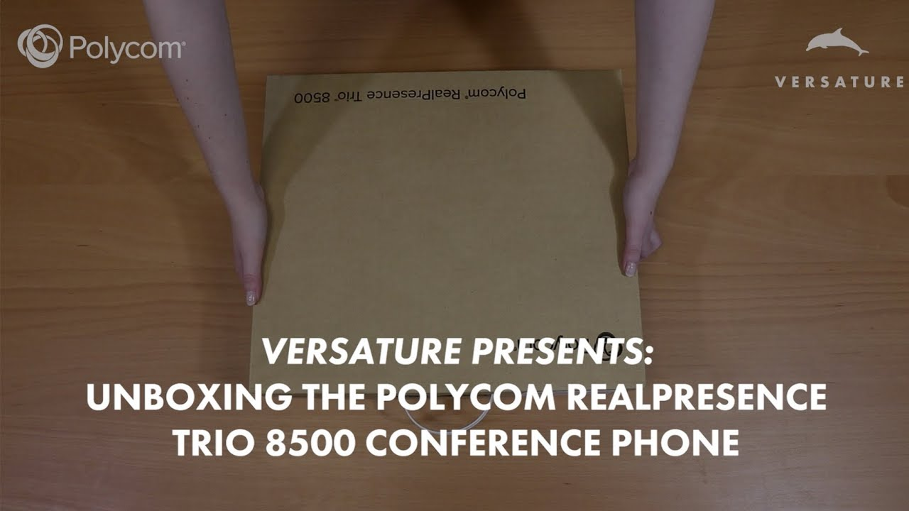 Unboxing the Polycom TRIO 8500 Conference Phone