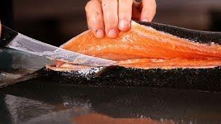 How To Slice Salmon Fish Amazing Salmon Fillet slicing fish machines