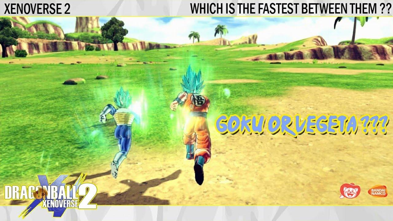 Goku vs Vegeta speed test | Dash & Run | Dragonball Xenoverse 2
