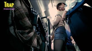 Japan Beauty goes to work by bus  Japan Bus Vlog Trap Massage