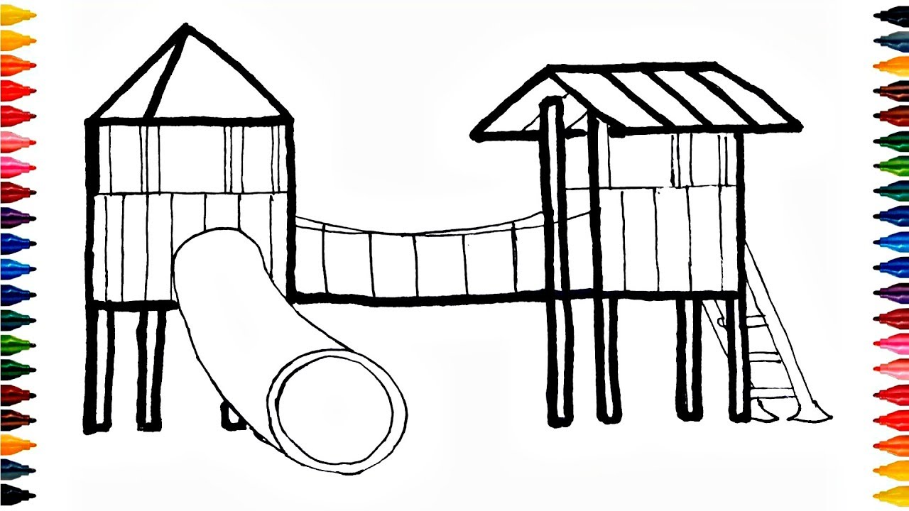 colours for kids playground coloring pages how to color playground