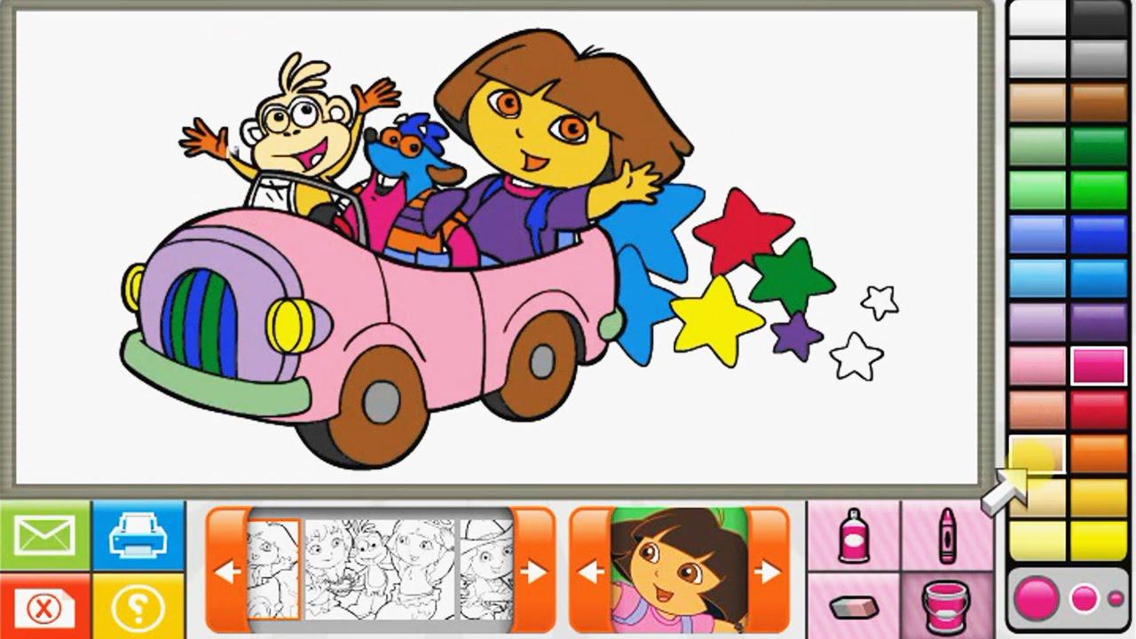 dora the explorer nick jr coloring book youtube - Nick Jr Coloring Book