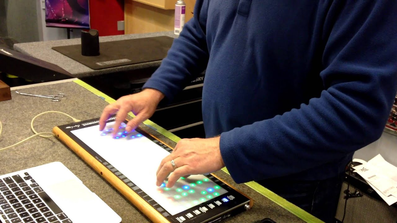 Linnstrument demo at guitar center europa played by jeff - U he diva ...