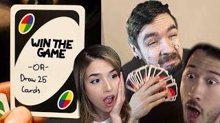 Win The Game or Draw 25 Cards | Uno w/ Markiplier & Pokimane