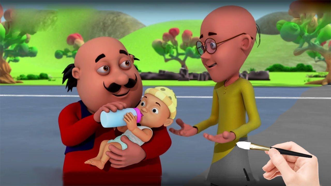 Motu Patlu Bye Baby Bunting Motu Patlu Cartoon Indian