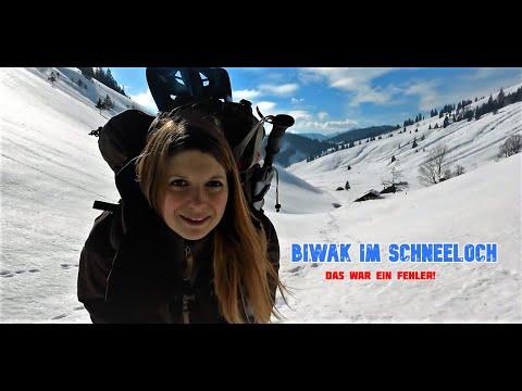 Winterbiwak ❄️Die extremste Nacht im Schneeloch ????️ Vanessa Solotour in den Alpen