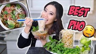 HOMEMADE VIETNAMESE PHO NOODLES RECIPE | COOKING SHOW!