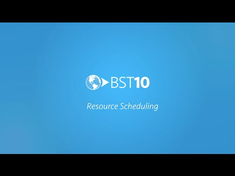 Resource Scheduling with BST10