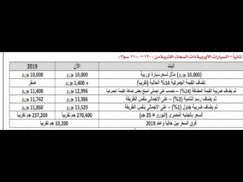 اخيرا نهاية الجدل بالمستندات في موضوع تخفيض الجمارك علي السيارات في مصر اول عام 2019