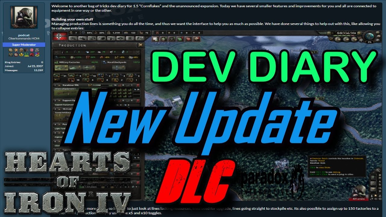 NEW DLC IMPROVEMENTS TO EQUIPMENT! Developer Diary - Hearts of Iron 4 HOI4