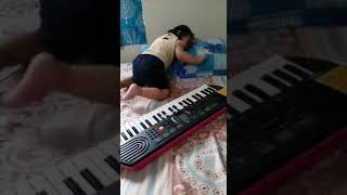 In the initial stage, she how kavya singh is learning how to play 🎹😃😂.