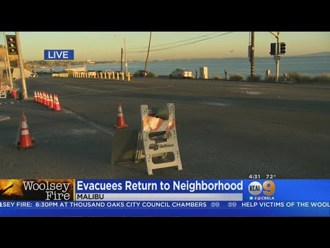 Malibu Evacuees Returning