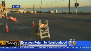 Malibu Evacuees Returning Home After Woolsey Fire