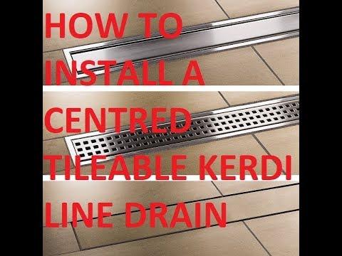 How To Install A Center Kerdi Line Drain Youtube