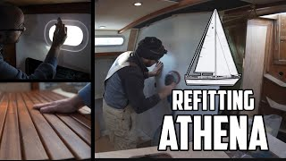 Sail Life - New Gebo portlight, deck fills & working on the settee - DIY boat project