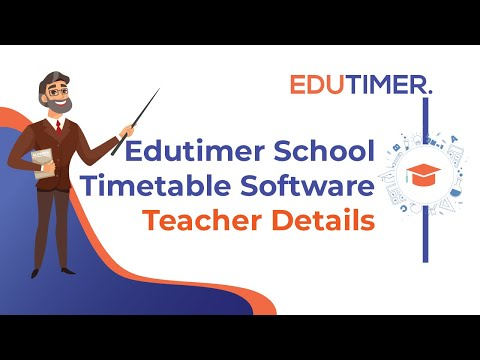 Edutimer school timetable software-Teacher Details