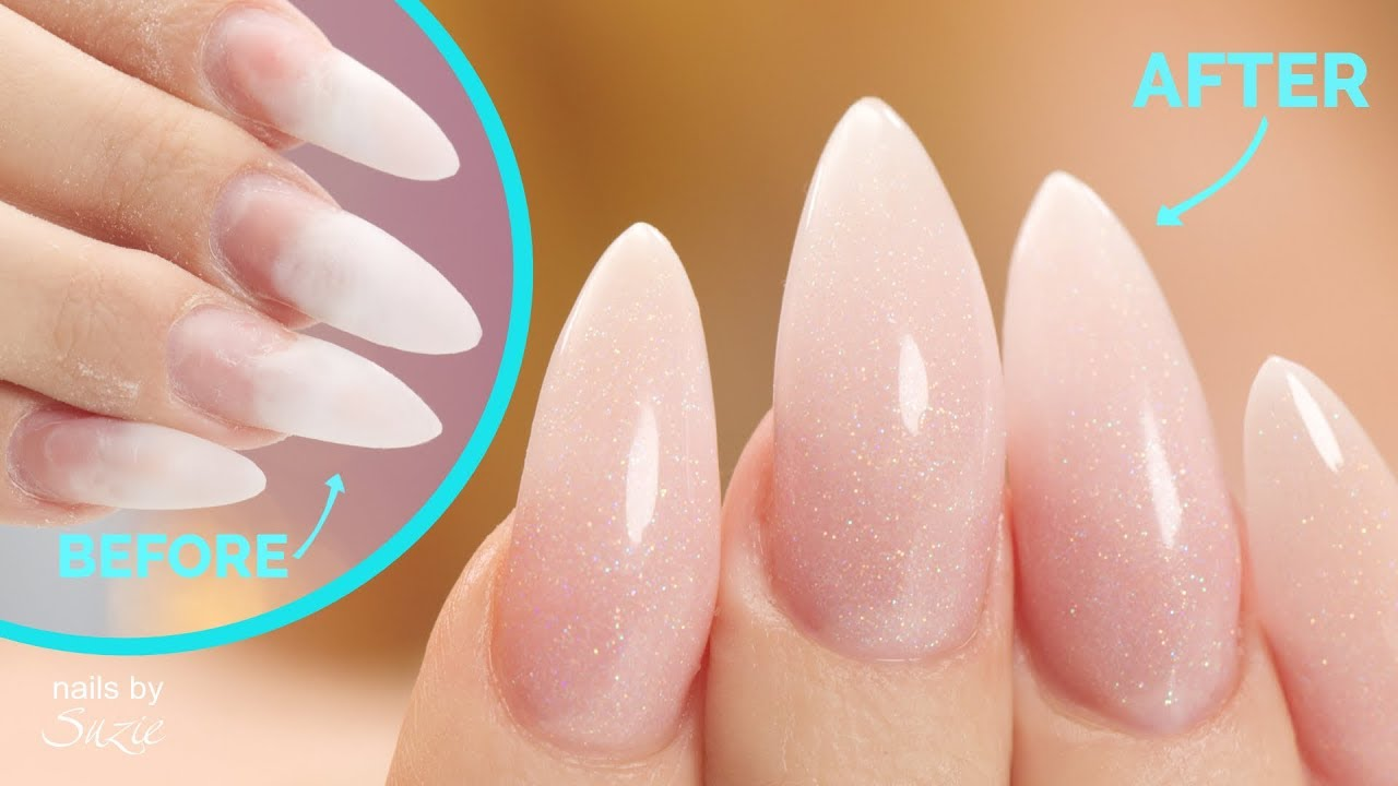 Acrylic Nail Fill and Makeover - YouTube