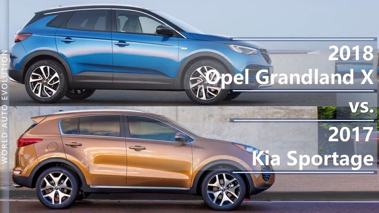 2018 Opel Grandland X Vs 2017 Kia Sportage Technical