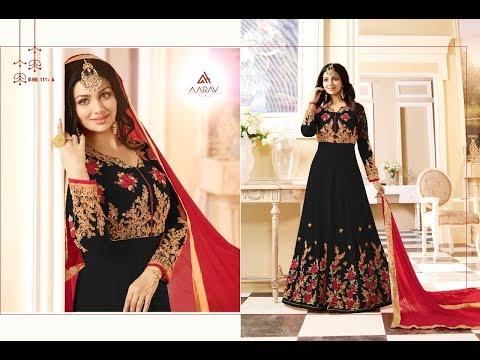 Latest Indian Salwar Suits Dress Collection 2018 || Aafreen gold aarav Trendz || Georgette Anarkali