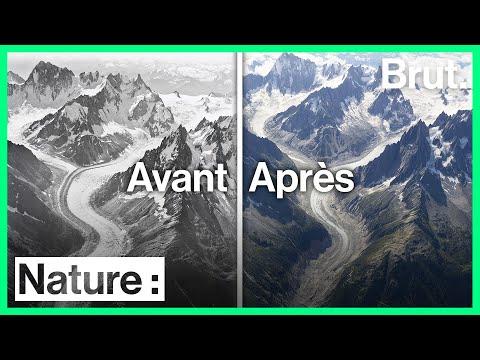 Des photos avant/après pour montrer le déclin massif des glaciers