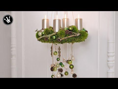 diy adventskranz selber machen aus moos zapfen. Black Bedroom Furniture Sets. Home Design Ideas