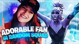 ADORABLE FAN FINDS OUT IM IN HIS GAME! (Fortnite: Battle Royale) | KittyPlays