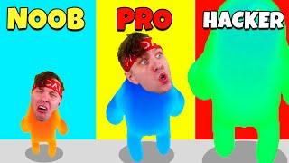 BLIR DEN STÖRSTA BLOBBEN I NOOB Vs PRO Vs HACKER (Join Blob Clash 3D)