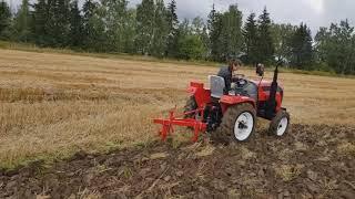 Видеообзор: мини-трактор Rossel RT 242D в работе