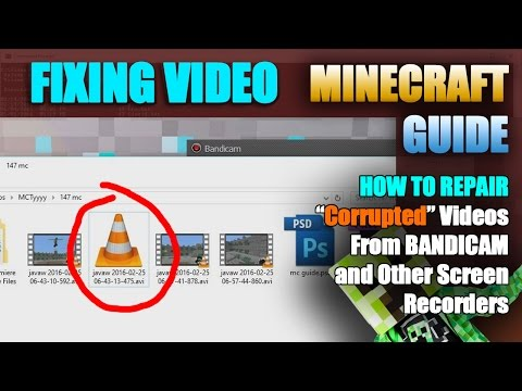 How to Repair Video Files from BANDICAM Using FFMPEG