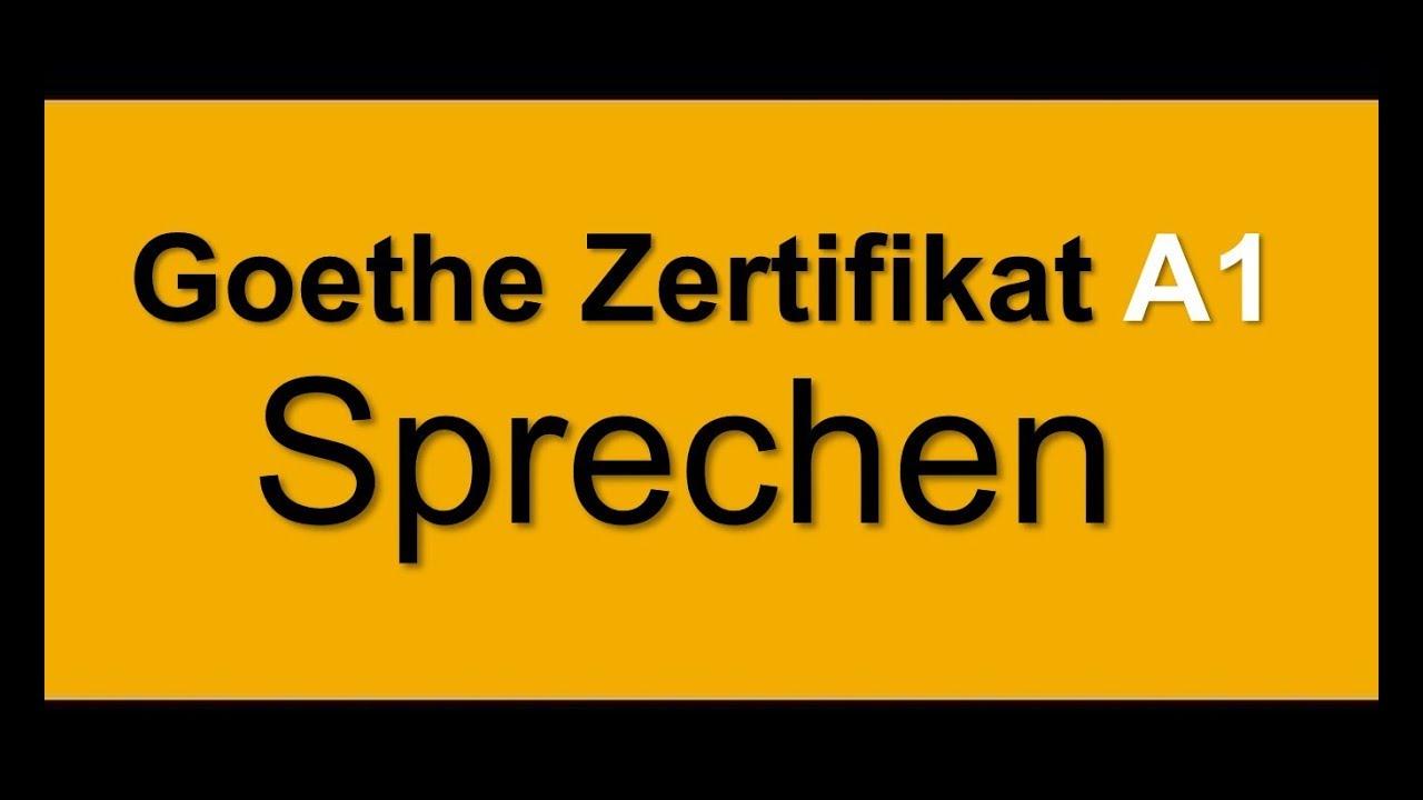 Goethe Zertifikat A1 Start Deutsch 1 Sprechen - YouTube