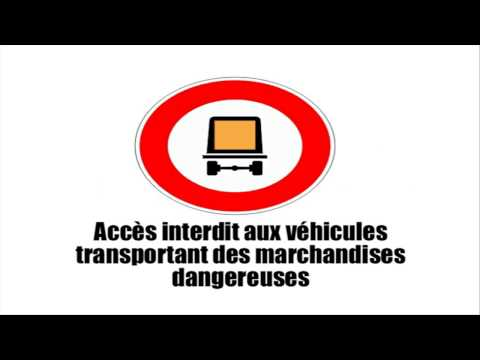 Learn the French road signs