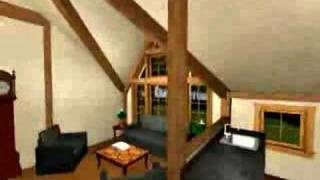 Post And Beam - Victorian Guest House - Yankee Barn Homes - 3d Virtual Walkthrough
