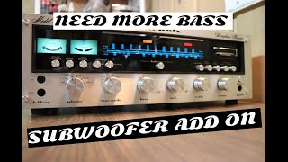 MORE BASS Add Subwoofer to any Vintage Home Stereo