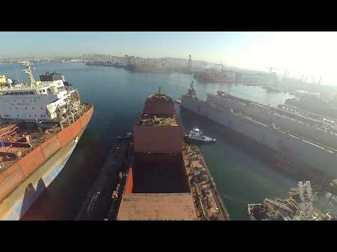 Shifting maneuvering in Tuzla Port (Shipyard)
