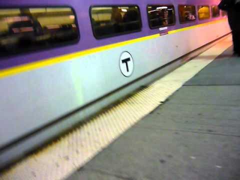 Walk At MBTA Station